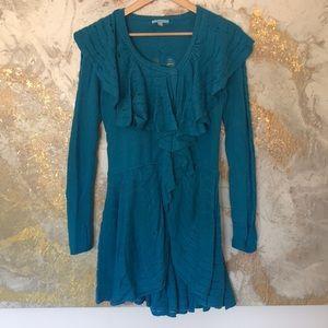 Anthropologie Cobalt Blue Statement Sweater